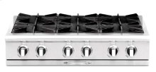 """36"""" four open top burner gas w/ 12"""" BBQ grill - NG"""