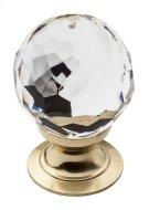 Polished Brass Crystal Cabinet Knob Product Image