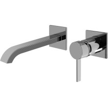 Qubic Tre Wall-Mounted Lavatory Faucet w/Single Handle