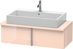 Vero Vanity Unit For Console Compact, Apricot Pearl High Gloss Lacquer