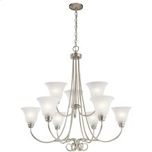 Bixler 9 Light Chandelier with LED Bulbs Brushed Nickel