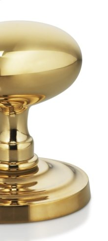 Decorative Hinge Finials in US3A (Polished Brass, Unlacquered)
