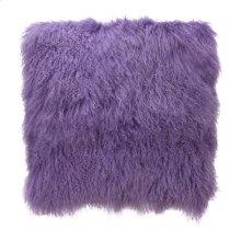 Lamb Fur Pillow Large Purple