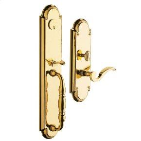 Non-Lacquered Brass Hamilton Entrance Set
