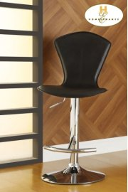 Black Airlift Swivel Stool Product Image