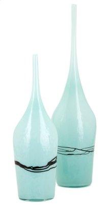 Seafoam Glass Vases - Set of 2