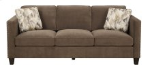 Focus - Sofa Chocolate W/2 Accent Pillows