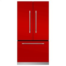 Marvel Mercury French Door Counter-Depth Refrigerator - Marvel Mercury French Door Refrigerator - Scarlet