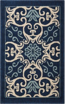 Caribbean Crb02 Nav Rectangle Rug 1'9'' X 2'9''
