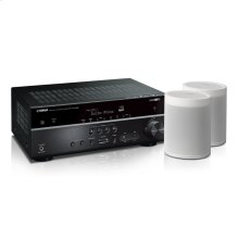 MusicCast RX-V585 Bundle - White 7.2-Channel AV Receiver with MusicCast