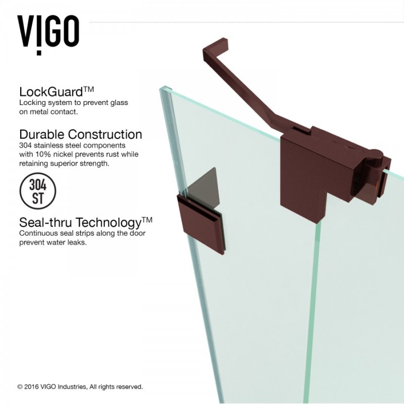 VG6042RBCL48 in Clear/oil Rubbed Bronze by Vigo in Freeport