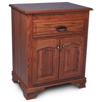 Classic Deluxe Nightstand with Doors Product Image
