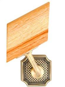 Handrail Bracket w/Small Weave Rose