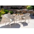 """All Seasons 33"""" Round Bistro Table with Taupe Glass Product Image"""