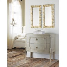 Bowfront Gustavian Commode, Painted Antique Grey