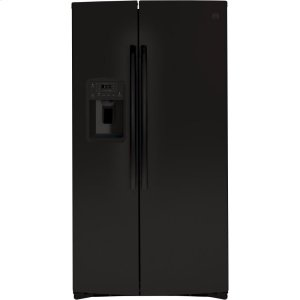 GE® 25.1 Cu. Ft. Side-By-Side Refrigerator - BLACK