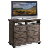Belmeade Entertainment Chest Old World Oak finish Product Image