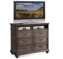 Belmeade Entertainment Chest Old World Oak finish