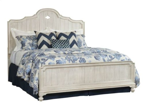 Laurel Panel Cal King Bed Complete