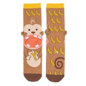 Banana Monkey Heel Socks - Women's Size 9-11