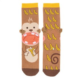 Banana Monkey Heel Socks - Women's Size 9-11