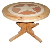 """48""""round Marble Star Table Product Image"""
