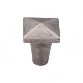 Aspen Square Knob 7/8 Inch - Silicon Bronze Light