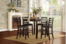 5-Piece Pack Counter Height Set Table: 39 x 39 x 36H Chair: 17 x 20.5 x 40H