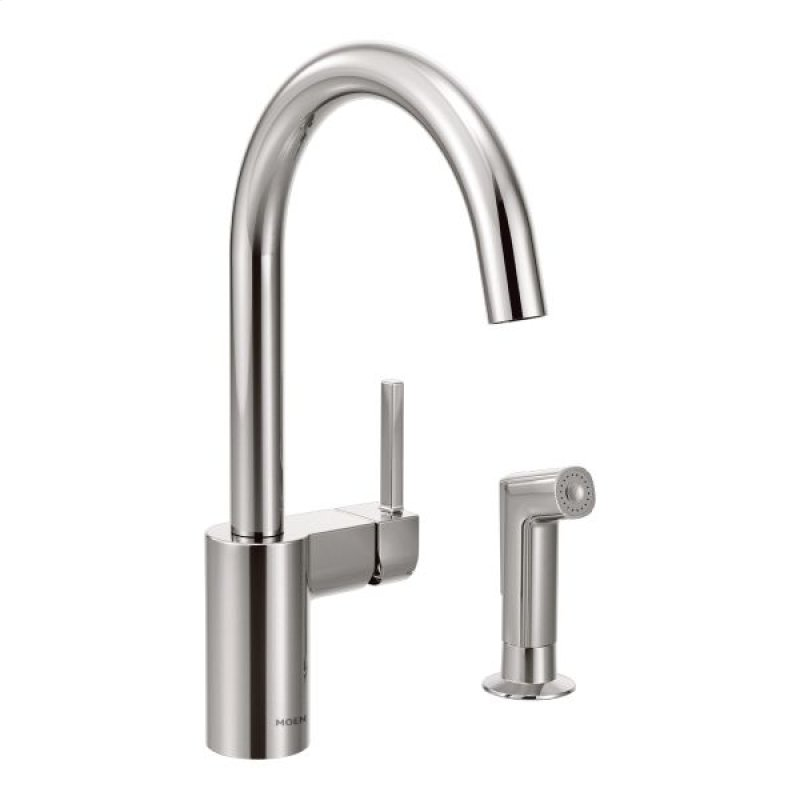 7165 In Chrome By Moen In West Haven Ct Align Chrome One Handle