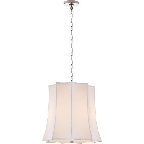 Visual Comfort AH5027PN-PL Alexa Hampton Peter Crown 2 Light 21 inch Polished Nickel Hanging Shade Ceiling Light, Alexa Hampton, Crown, Natural Percale Shade