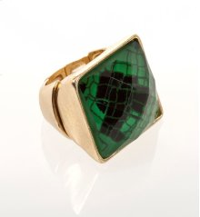 BTQ Green Snakeskin Ring