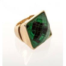 BTQ Green Snakeskin Ring