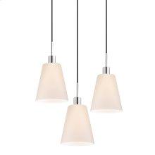 Glass Pendants Tall Cone 3-Light Pendant