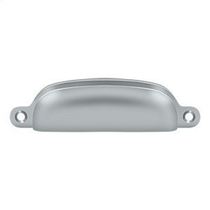 """Exposed Shell Pull 4"""" - Brushed Chrome"""