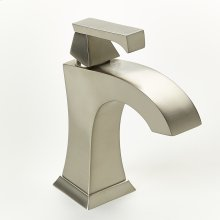 Single Lever Lavatory Faucet Leyden Series 14 Satin Nickel