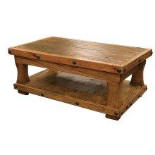 Reclaimed Wood Coffee Table w/ Shelf