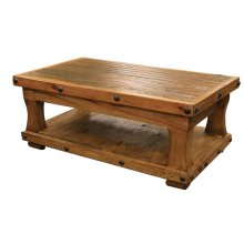 Reclaimed Wood Coffee Table w/ Shelf