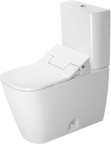 White Happy D.2 Two-piece Toilet Duravit Rimless For Sensowash®