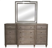 Dara II Twelve Drawer Dresser Gray Wash finish