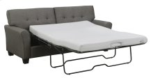 "Full 4/6 Sleeper-espresso W/4"" Gel Foam Mattress & 2 Accent Pillows"