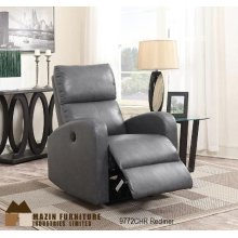 Charcoal Power Recliner