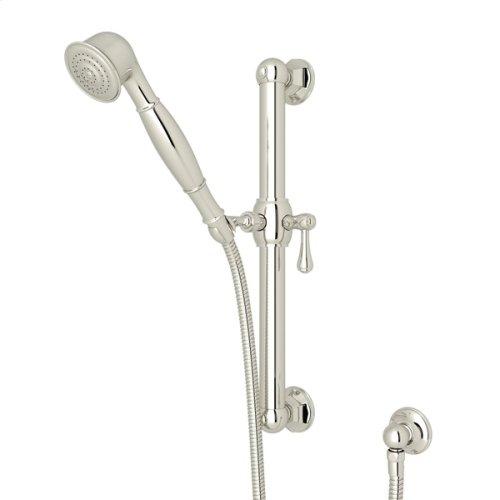 """Polished Nickel 24"""" Palladian Decorative Grab Bar Set With Single-Function Handshower/Hose/Outlet"""