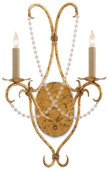 Crystal Lights Wall Sconce - 22h x 14w x 7d