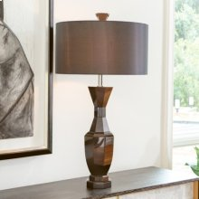 Crystal Urn Lamp-Black-French Wired