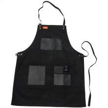 Apron - Black Canvas & Leather L