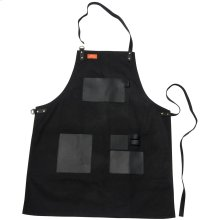 Grilling Apron - Black Canvas & Leather L