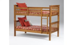 Sadler Cherry Twin over Twin Bunk Bed
