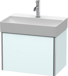 Vanity Unit Wall-mounted Compact, Light Blue Matt Decor