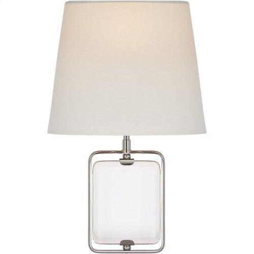 Visual Comfort SK2030CG/PN-L Suzanne Kasler Henri 1 Light 10 inch Polished Nickel Framed Jewel Sconce Wall Light