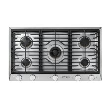 "Heritage 36"" Professional Gas Cooktop, Liquid Propane/High Altitude"